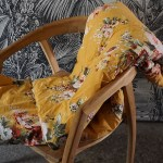 plaid fleurs jaune Etxe Mia!