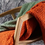 plaid orange rooïbos et vert Etxe Mia!