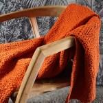plaid nid n'abeille orange Etxe Mia!