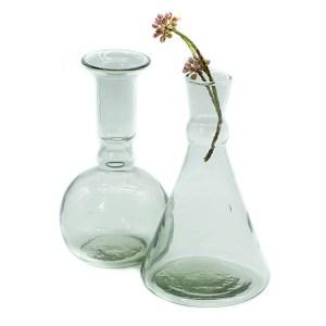 Vases verre transparent Etxe Mia!