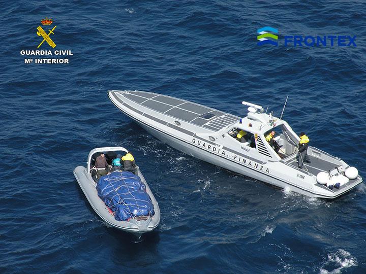 inflatable boat carrying marijuana