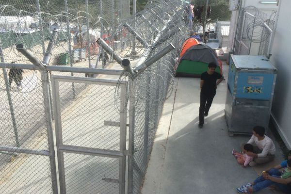 Migrant detention centre in Hungary