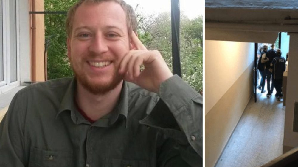 Austrian journalist Max Zirngast who was arrested by Turkish anti-terror police on Tuesday