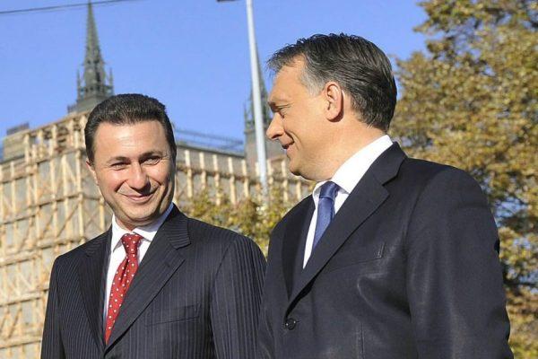 Former Macedonian Prime Minister Nikola Gruevski with Hungarian Prime Minsiter Viktor Orban