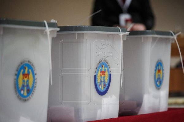 Ballot boxes picture in the 2016 Moldova elections