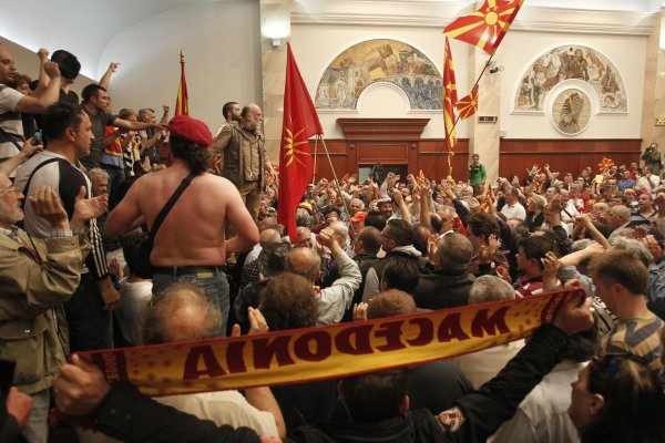 North Macedonian parliament attack April 27, 2017