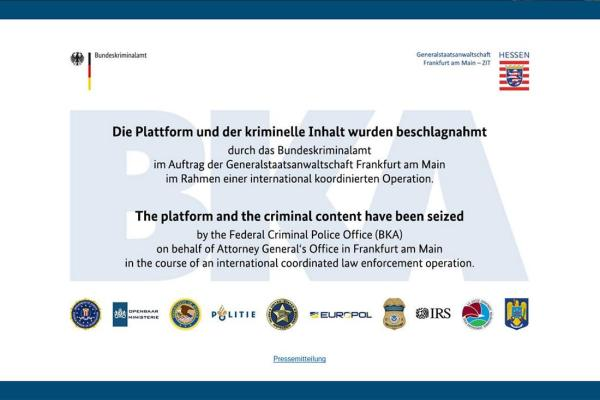 Three arrested in Germany as dark web marketplace shut down