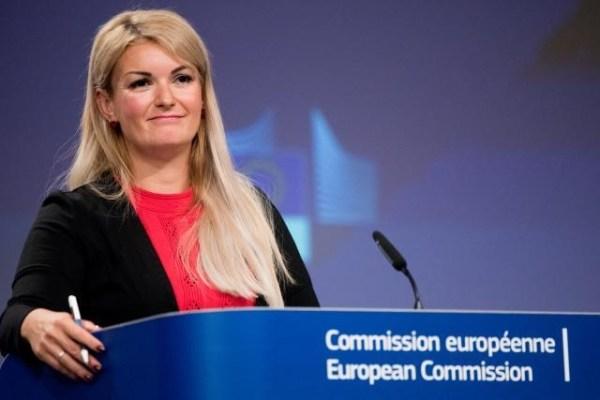 EU Commission spokesperson Mina Andreeva