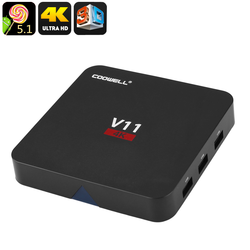 TV Box COOWELL V11RK - Kodi, Android, Quad Core CPU, 2GB RAM, SPDIF, 3x USB, DLNA