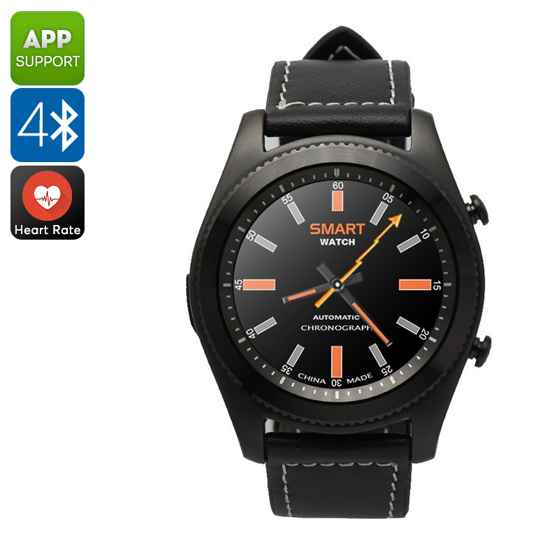 No.1 S9 Smart Watch - Bluetooth, Call Answer, Pedometer, Heart Rate, Sedentary Reminder, 380mAh (Black)