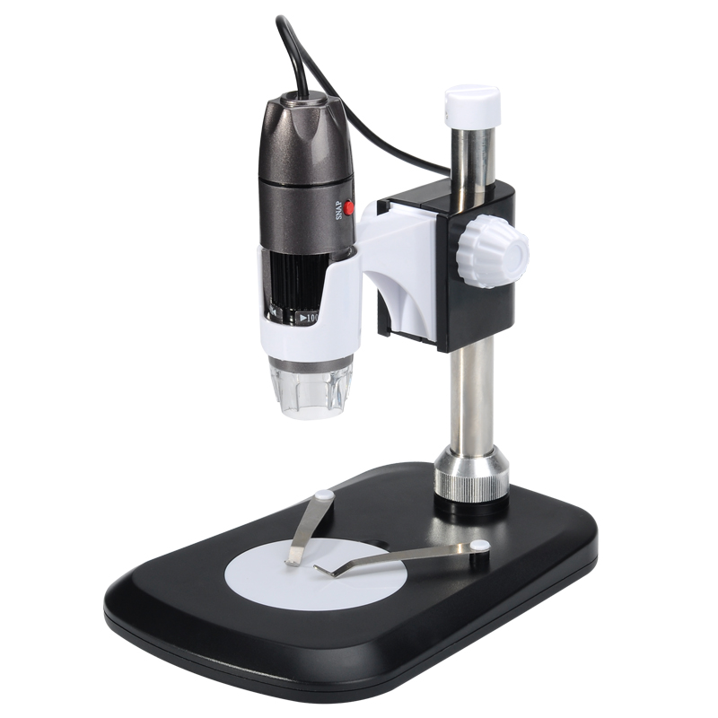 Digital USB Microscope - 2MP Sensor, 40x-1000x, Photo and Video Support, 8 LED, 30FPS