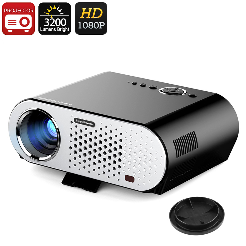 HD Projector ViviBright SimpleBeamer GP90 - 3200 Lumen, 40 To 280 Inch Image, 1280x800 Native Resolution, 1080P Support