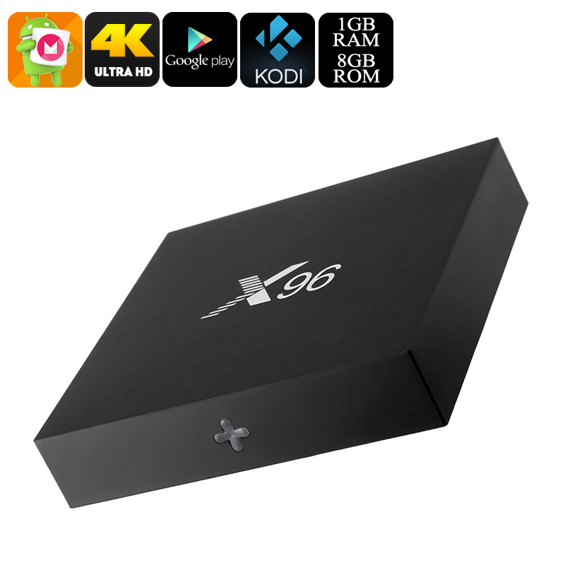 X96 Android 6.0 TV Box - 4K Movie Support, Google Play, Kodi TV, Airplay, Miracast, Quad-Core CPU, 8GB Memory