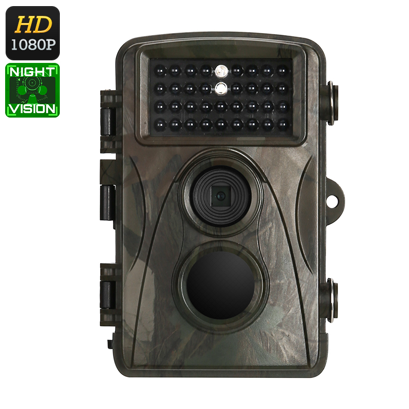 1080p Trail Camera - Full-HD Video, 12MP Images, 2.4-Inch Display, 8 Months Standby, IR Cut, Night Vision, 110-Degree Lens, IP56