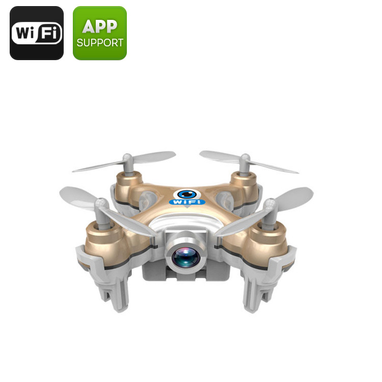 CX-10W Mini Drone - 15 to 30M Range, 6-Axis Stabilizing Gyro, 2.4GHz Wi-Fi Control, Android & iOS Compatible, FPV