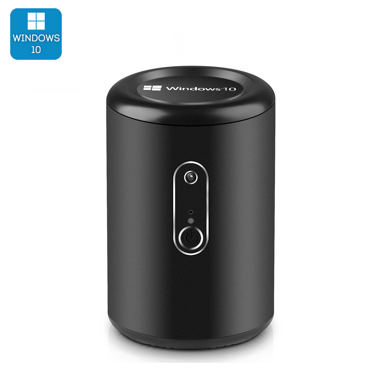 Intel Windows 10 Mini PC 'Win Pro G2' - CR Z3736F Quad Core CPU, Bluetooth 4.0, Wi-Fi, 2MP Camera (Black)