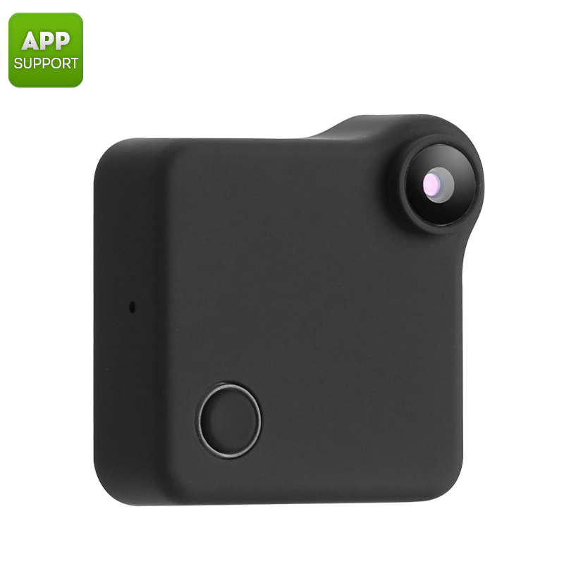 Wearable Mini WiFi Camera - 720p Resolution, Motion Detection, CMOS Sensor, App Support, 32GB SD Card Slot, 90-Degree, 600mAh