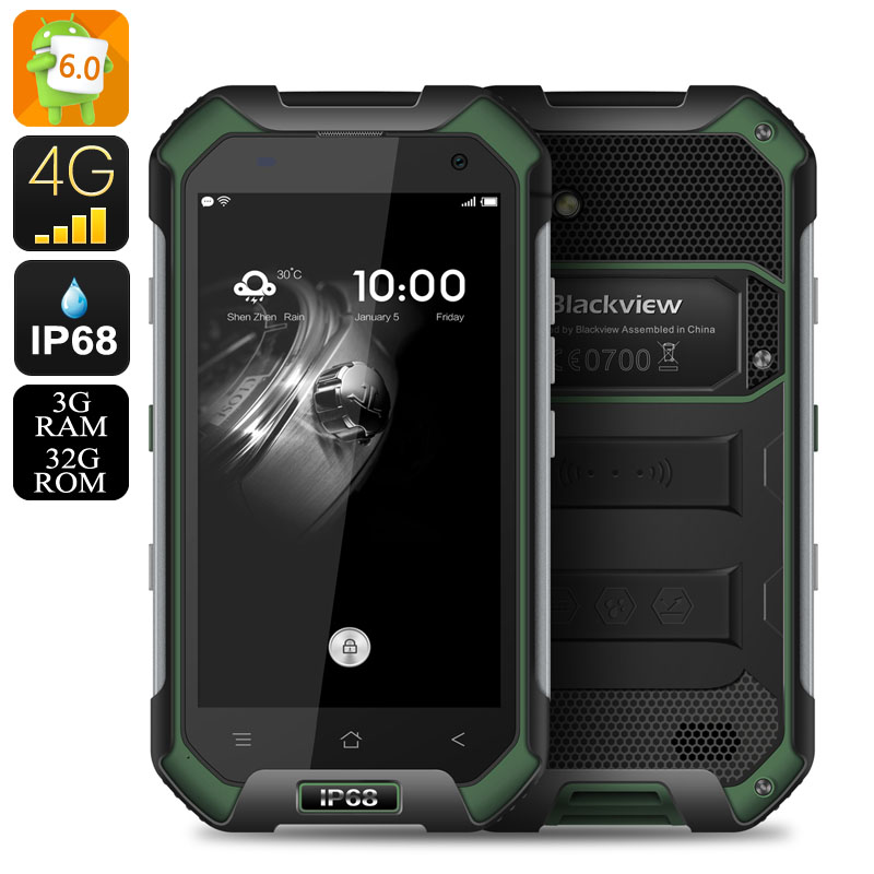 HK Warehouse Blackview BV6000 Android 6.0 Smartphone - IP68, Dual SIM 4G, 2GHz 8 Core CPU, 3GB RAM, NFC, OTG, 13MP Cam (Green)