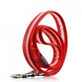 Red Optical Fiber LED Dog Leash (Water Resistant, Ultra Durable)