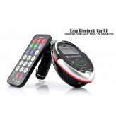 Easy Bluetooth Car Kit - Handsfree Phone Calls + Music + FM Transmitter