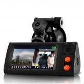 Dual Camera Car Blackbox DVR with 3 Inch Touchscreen, GPS Logger and 3D G-Sensor