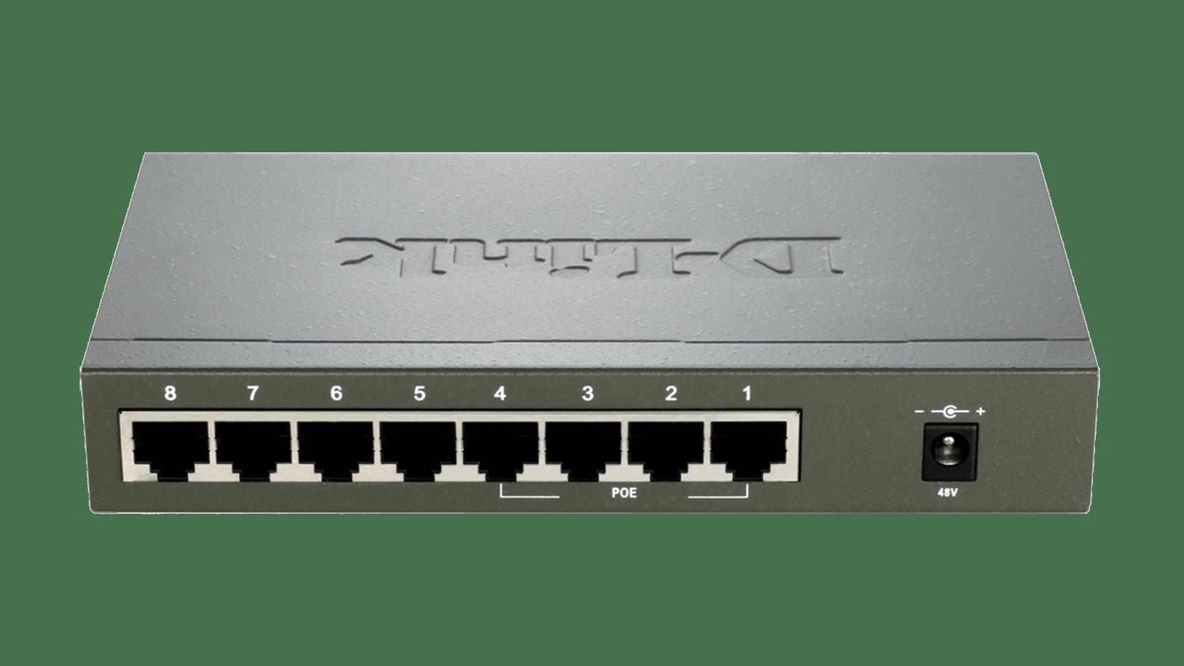 DES-1008PA 8-Port Fast Ethernet PoE Desktop Switch   D-Link UK