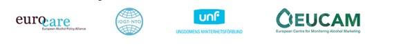 logos Eurocare, IOGT, Unf, EUCAM