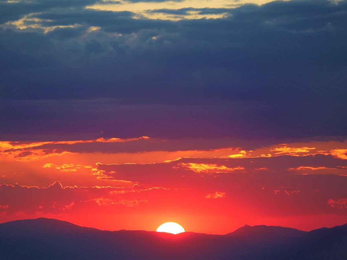 silhouette photo of mountains
