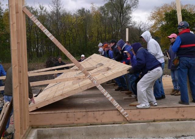 Jeffries Family Habitat Home Wall Raising
