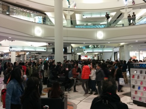 Metropolis at Metrotown at 6:45am on Black Friday