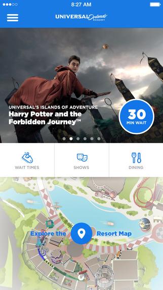 Aplicativos Disney e Universal