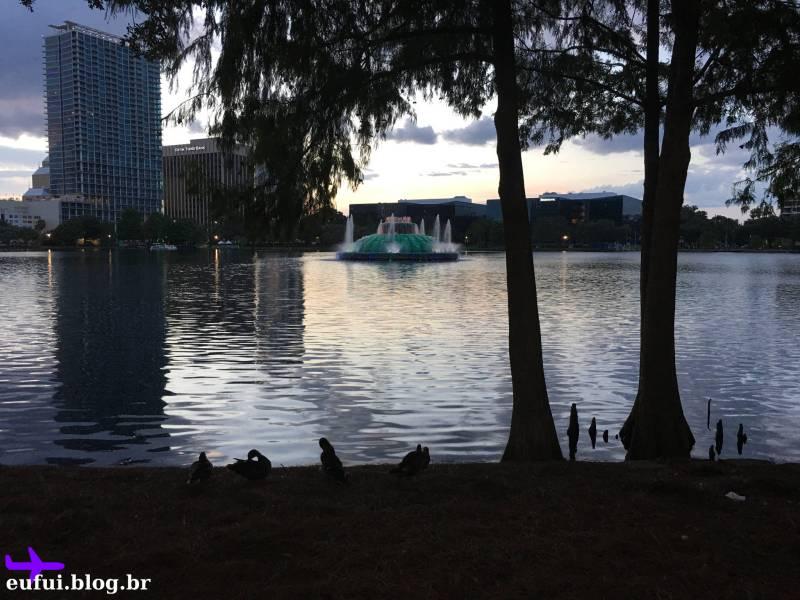 lake eola downtown orlando florida fonte