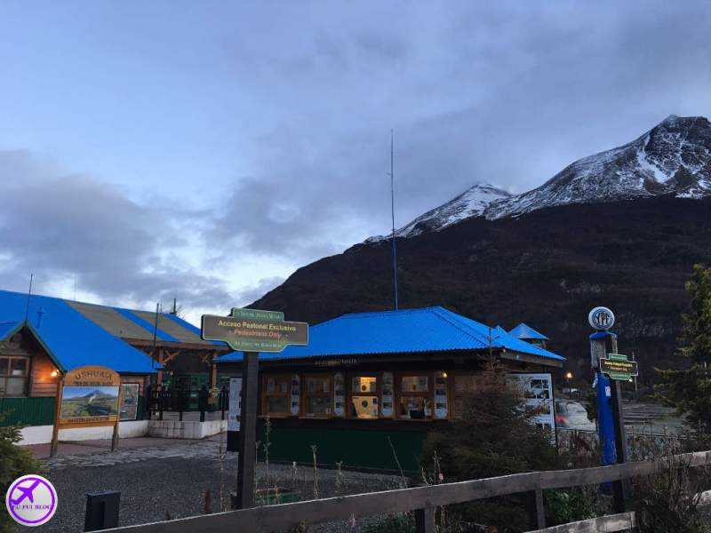 Bilheteria do Trem do Fim do Mundo em Ushuaia - Terra do Fogo