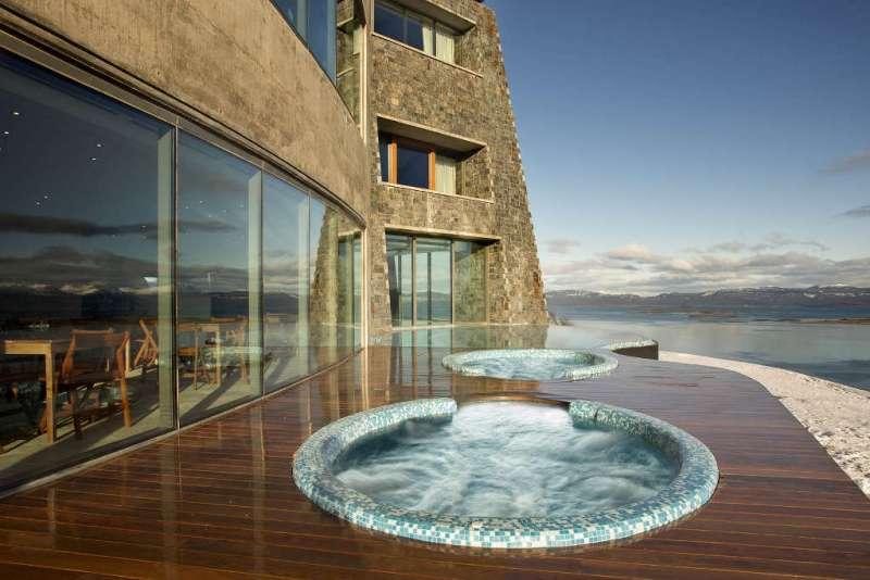 Rio Olivia - Hotel Arakur - Filme O Regresso em Ushuaia - Argentina - Hotéis em Ushuaia