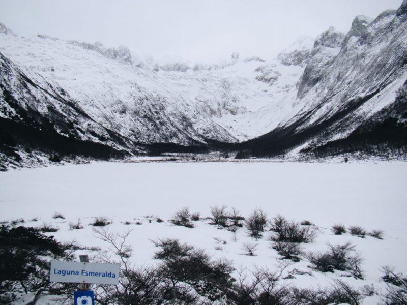 Laguna Esmeralda no Inverno em Ushuaia - Terra do Fogo
