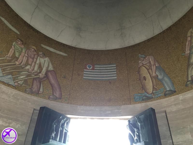 Visão do Guardião no Mausoléu do Obelisco de São Paulo