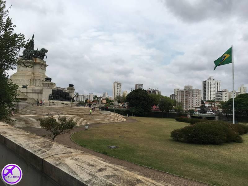Detalhe do Parque da Independência em São Paulo