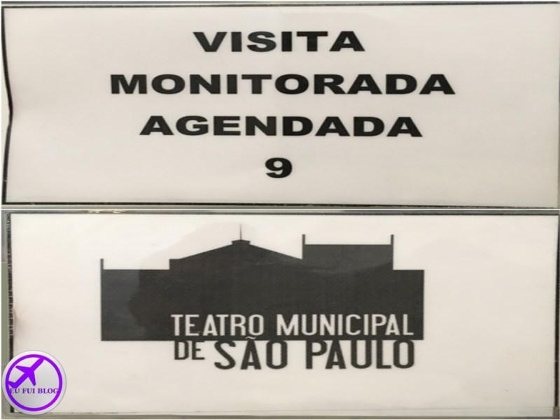 Senha para visita guiada no Teatro Municipal de São Paulo
