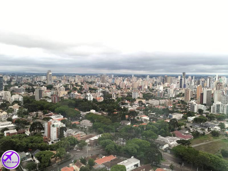 Vista da Cidade na Torre Panorâmica de Curitiba - Paraná
