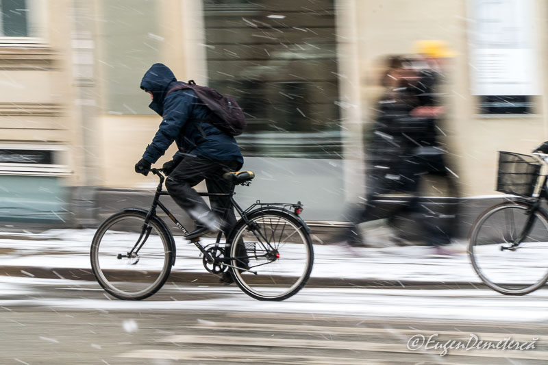 Cycling in winter - Sony A6500, cea mai bună cameră foto mirrorless?