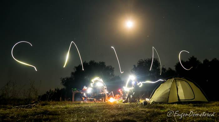 Noaptea in Delta cu caiacul