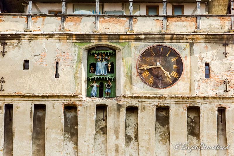 Turnul cu ceas din Sighisoara - detaliu