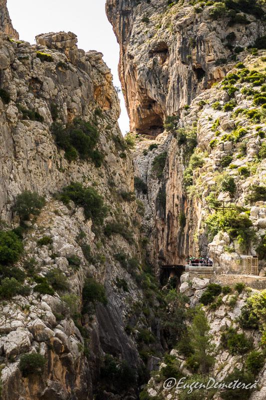 Caminito del rey - intrarea in canion