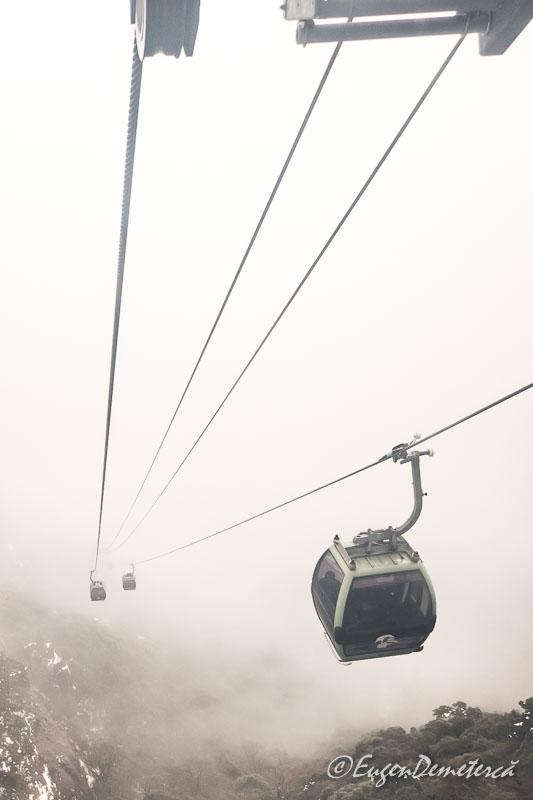 Telecabina muntelui Huangshan cu ceata