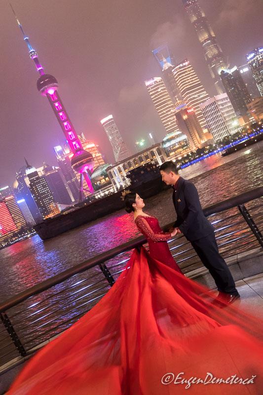 Mire si mireasa in Shanghai