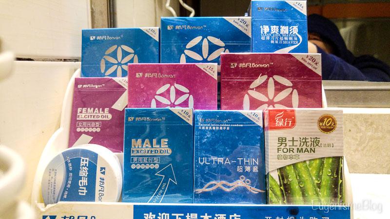 Huangshan - prezervative in camera de hotel
