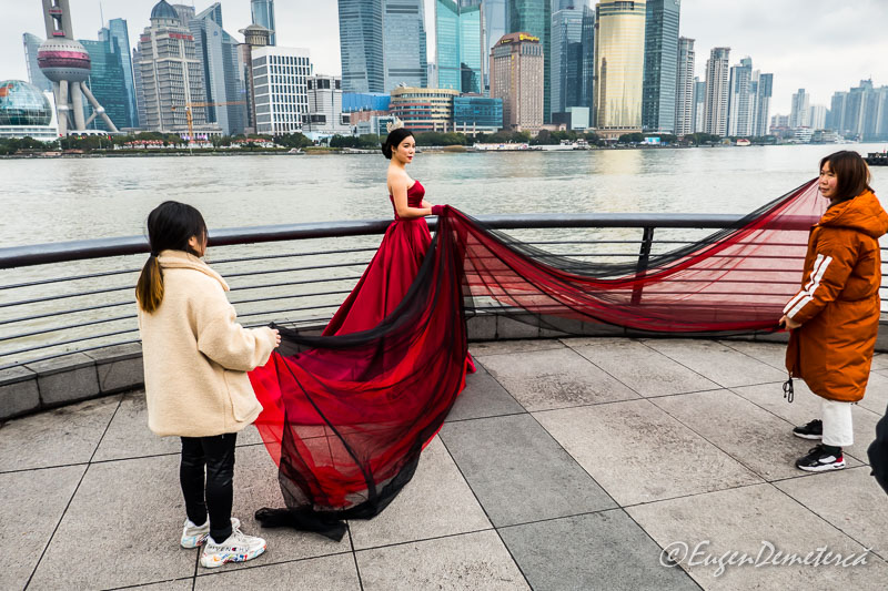 Shanghai - culise foto mireasa pe Bund