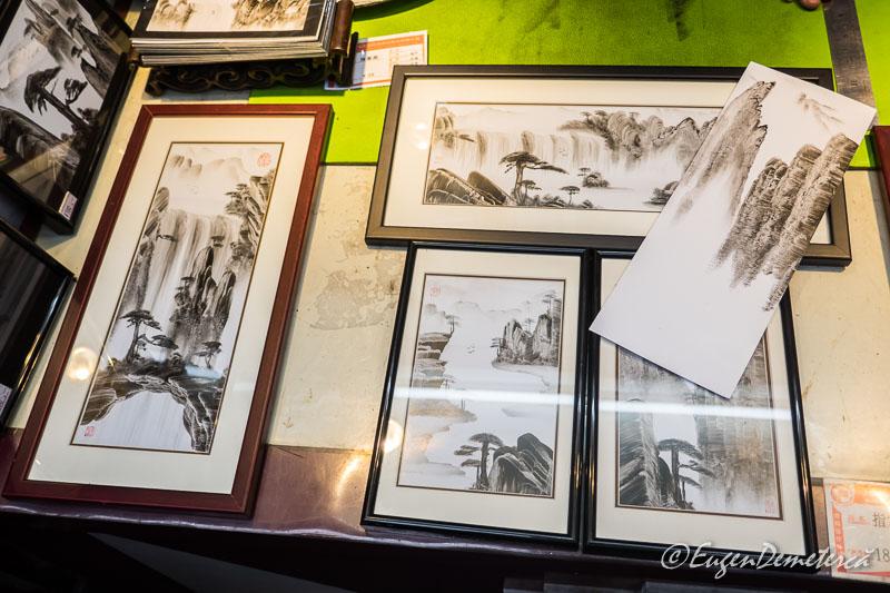 Shanghai - lucrari artist Yuyuan bazar