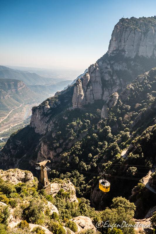 Montserrat - telecabina in urcare