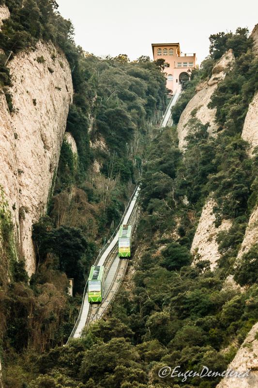 Montsserat - funicular San Joan